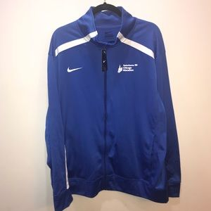 Nike Blue Zip Up Sweater
